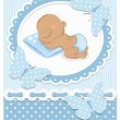 Sleeping African baby boy — Stock Vector