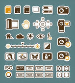 Camera screen icons set — Vettoriale Stock