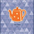 Tea time vintage pattern — Stock Vector