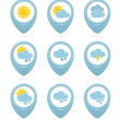 Weather web elements — Stock Vector