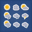 Weather forecast icons — Stock Vector