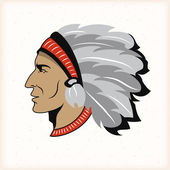 Indian head mascot — Stock Vector