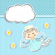 Little angel with stars and cloud — Stock Vector #27799591