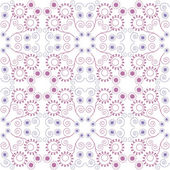 Purple floral seamless pattern — Stock Vector