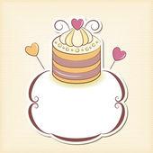Cute cupcake design frame — Stock Vector