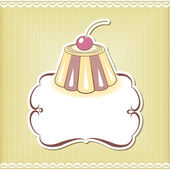Cute cupcake border — Stock Vector