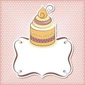 Cute cupcake frame — Stock Vector