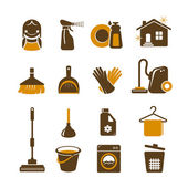 Cleaning vector icons — Stok Vektör