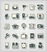 Universal icons paper cut style — Stock Vector