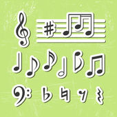 Music notes vector icons — Stock Vector