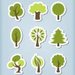Tree vector icons — Stock Vector