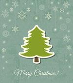 Christmas tree vector card — Stock Vector