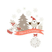 Christmas vector card — Stock Vector
