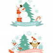 Christmas graphic elements — Stockvectorbeeld