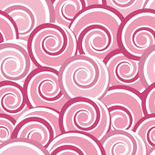 Pink abstract seamless pattern with swirls — ストックベクタ