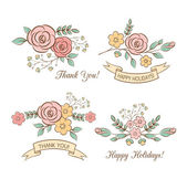 Holiday graphics set — Vettoriale Stock