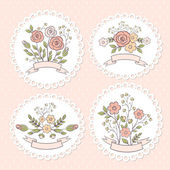 Wedding floral graphic set — Stock Vector