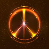 Shining pacific symbol — Stock Vector
