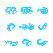 Wave icons set — Stock Vector