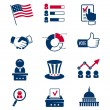 Voting and elections icons — Stock Vector #51444117