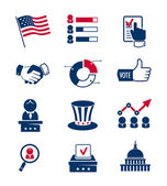 Voting and elections icons — Stock Vector
