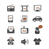 Advertisement vector icons — Stock Vector