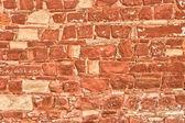 Mur de briques pierreux — Photo