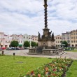 Stock Photo: Typical Czech town square