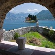 St. George island near Perast — Stock Photo