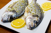 Marinated gilthead fishes — ストック写真