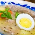 Polish Zurek soup (sour-rye soup) — Stock Photo #21973523