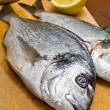 Stock Photo: Gilthead fishes ready to preparation