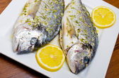Marinated gilthead fishes — Stock Photo