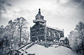 Church on Sleza Mountain during the winter — Stock Photo