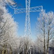 Metallic cross on Sleza mountain near Walbrzych — Stock Photo