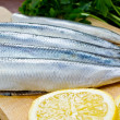 Raw herrings — Stock Photo