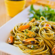 Royalty-Free Stock Photo: Spaghetti with mussels meat and pesto