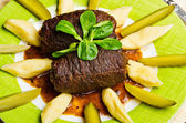 Traditional beef roulades — Stock Photo