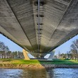 图库照片: Modern bridge - underneath view