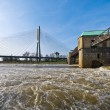 Weir on the Odra river — Foto Stock