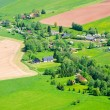 Stock Photo: Village in the agricultural terrain