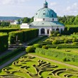 Flower gardens in Kromeriz, Czech Republic — Stock Photo