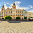 Stock Photo: Town square in Pardubice, Czech Republic