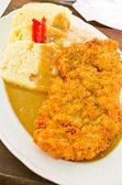 捷克面包饺子猪肉排骨 — 图库照片