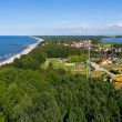Panorama of baltics shore in Niechorze, Poland — Stock Photo