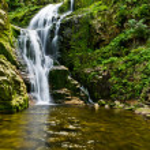 Famous Kamienczyk waterfall, Poland — Stock Photo