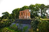 Ruin of the church in Trzesacz, Poland — Stock Photo