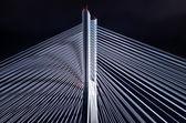 Bridge pylon during the night — Stock Photo
