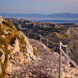 Stony road on the sv. Jure mountain, Croatia — Stock Photo