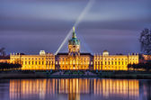Charlottenburg palace in the night, Berlin, Germany — Stockfoto